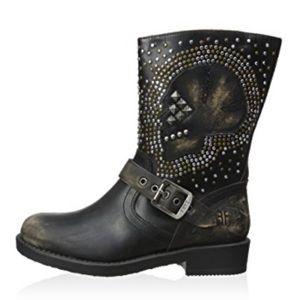 Frye Jenna Skull studded Short Boot kids size